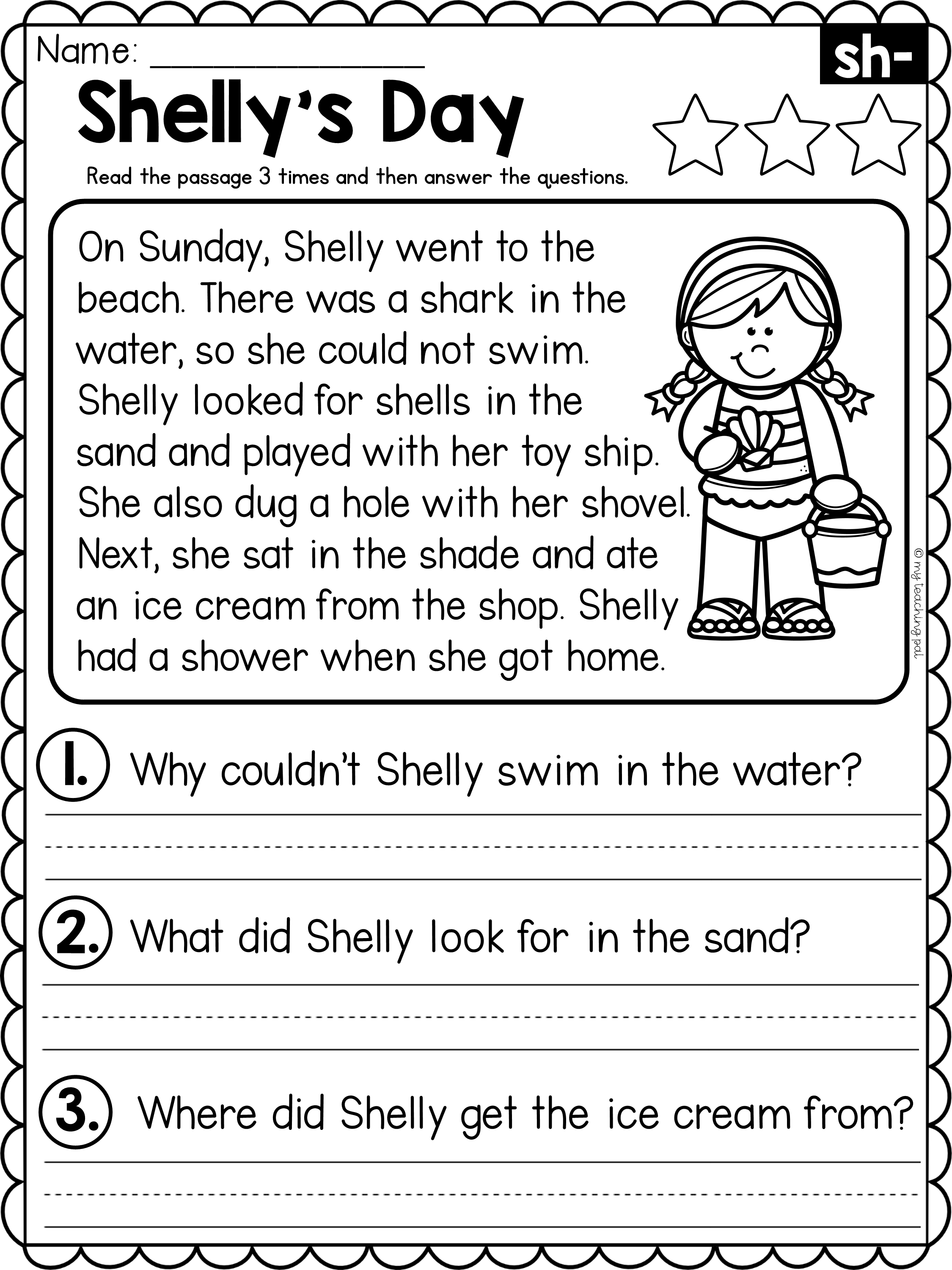Sh Reading Comprehension Passage In 2021 Reading Comprehension Passages Reading Comprehension Passages Free Reading Fluency Passages [ 3000 x 2250 Pixel ]