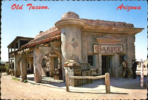 western town movie sets the old barber shop building old