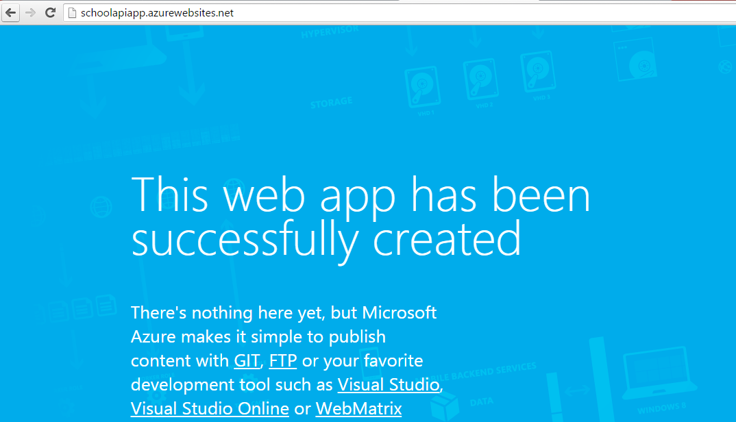 Getting started with Azure API Apps and Azure MVC web App