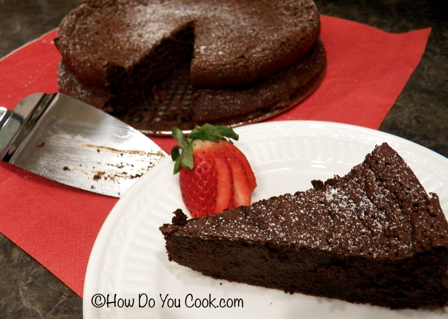 Dark Chocolate Mousse Cake