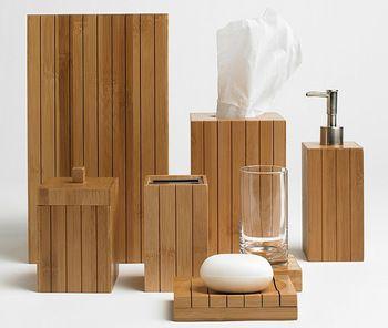 Bamboo Bathroom Set Of Soap Dispenser Dish Toilet Brush Toothbrush Holder Tray Bin Bamboo Bathroom Accessories Bamboo Bathroom Bathroom Sets
