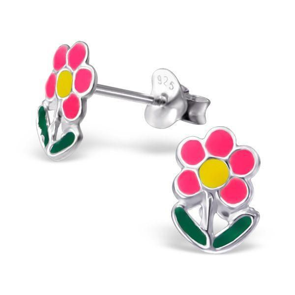 bb6f76b5d Childrens Colourful Flower Real Sterling Silver Stud Earrings #rings # sterling #925 #present #silver #stud #free #kids #earrings #christmas