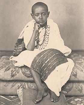 Leandro Preziosirsquo;s portrait of Prince Alemayou in Abyssinian costume  taken in Malta on June 27, 1868.   African royalty, History of ethiopia,  Black royalty