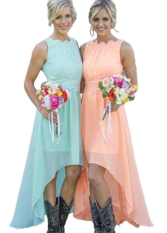 Cocobridal high low aqua rustic bridesmaid dress wedding party bridesmaid ombrellifo Gallery