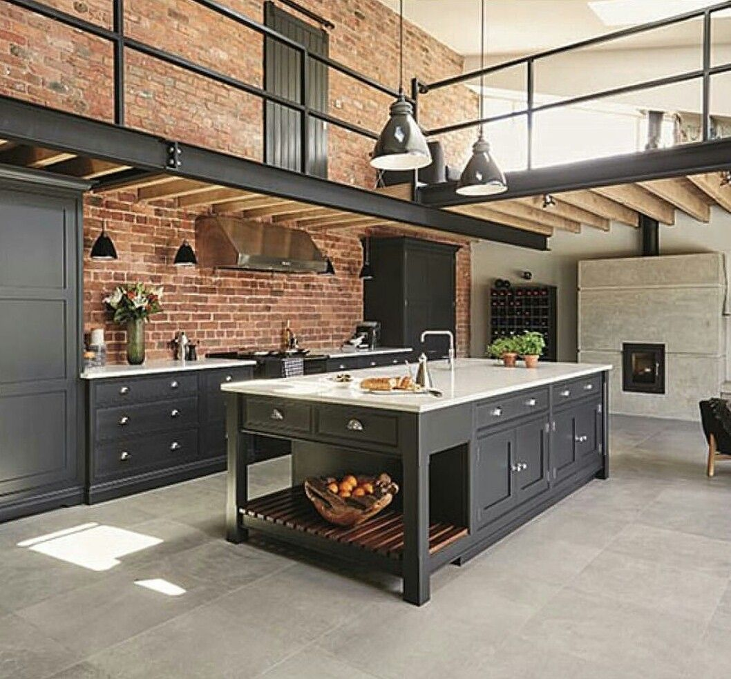 Pics Of Rustic Industrial Kitchen: House And Home Decor In 2019