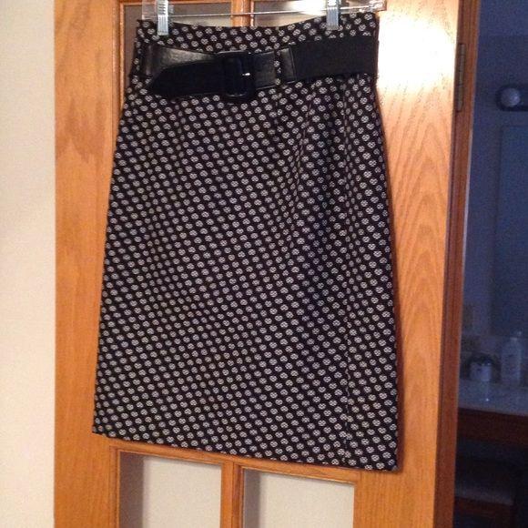 c2b42dc4c0 Antonio Melani pencil skirt Black and white pencil skirt with belt ANTONIO  MELANI Skirts Pencil