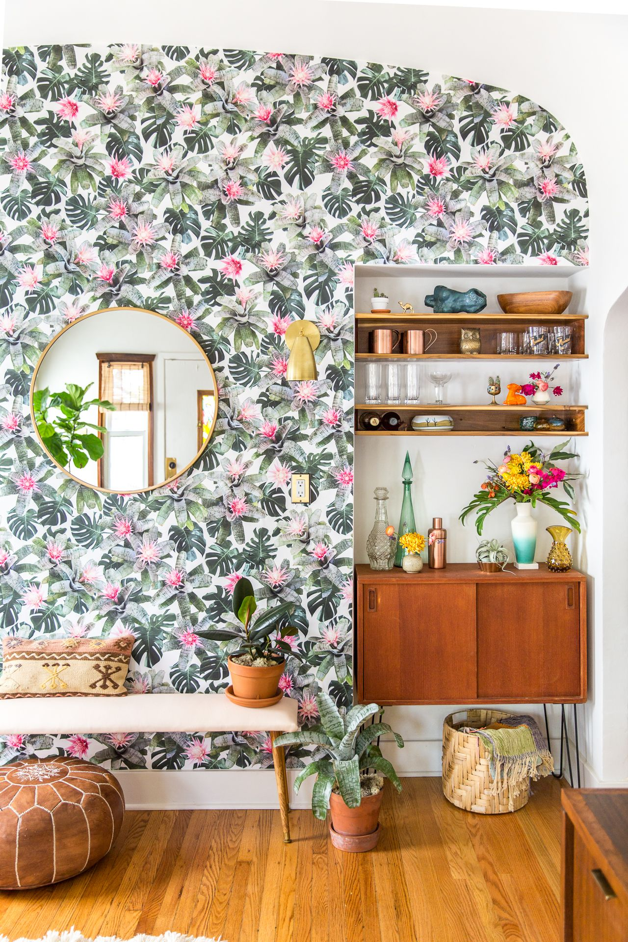 Wall Decor Diy And Inspiration By Casawatkinsblog Floral Wallpaper For