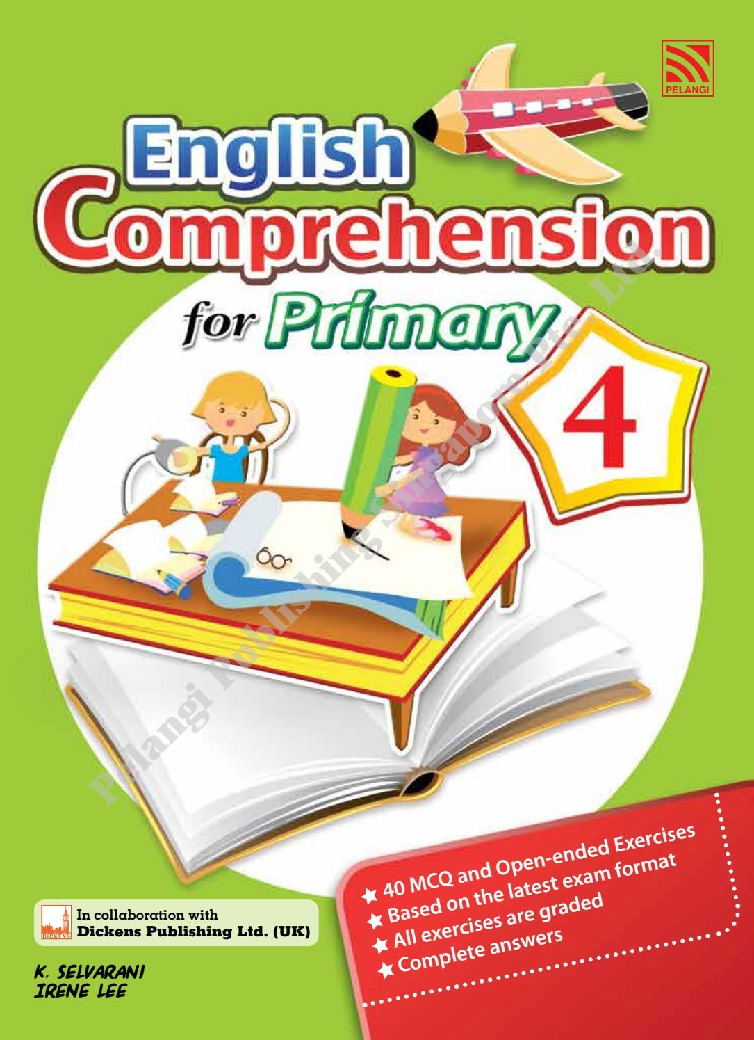 English Comprehension For Primary 4 English Grammar Book Pdf English Conversation Learning English Grammar Book How to read books to learn english