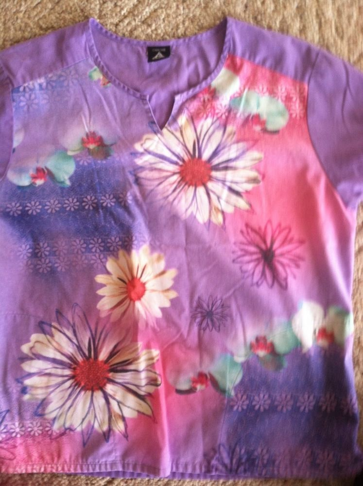 Cherokee womens scrub top for nurses or home care aides
