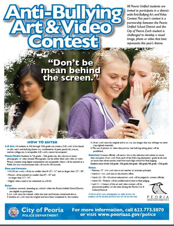 Students participate in Content for Internet Safety Week and to promote anti-bullying through social media.