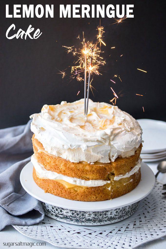Lemon Meringue Cake #celebrationcakes