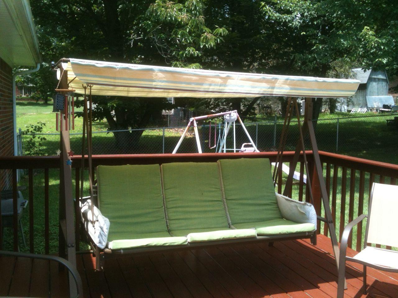 Replacement Swing Canopy Diy Outdoor Decor Patio Swing Canopy Diy Patio