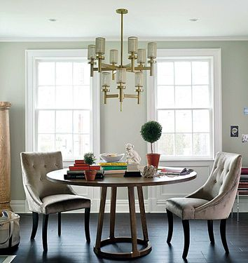 Elegant Dining Room Circular Table Upholstered Chairs From Domino Elegant Dining Room Stylish Dining Room Formal Dining Room Decor