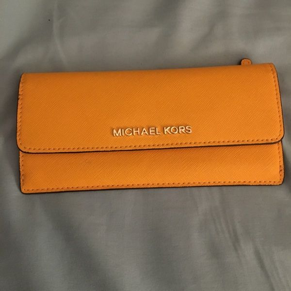 For Sale: MK Yellow Wallet  for $65