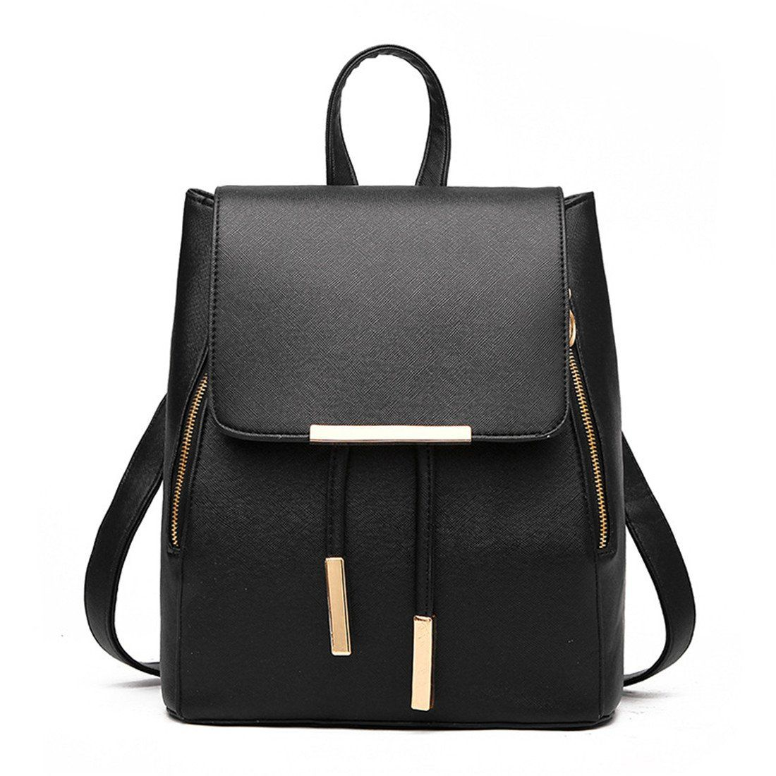 d7964d938fbc Women Girls Ladies Backpack Fashion Shoulder Bag Rucksack PU Leather Travel  bag (black)  Amazon.co.uk  Luggage