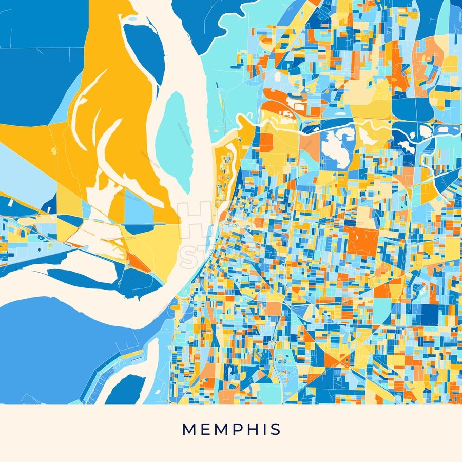 Memphis Colorful Map Poster Template Maps Vector Downloads Map