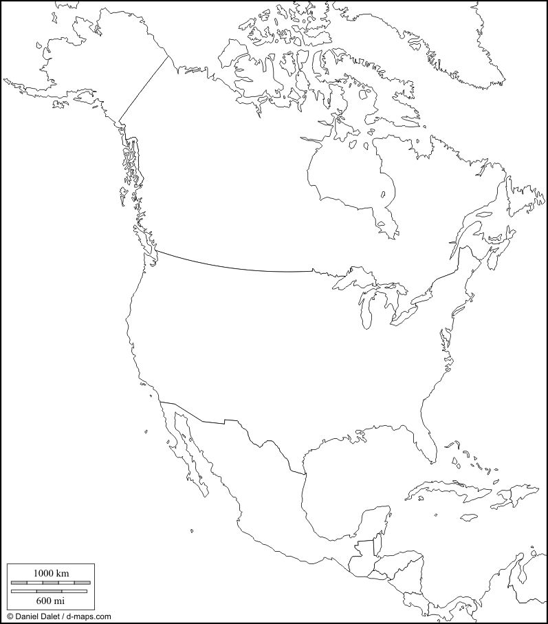 North America Blank Political Map.Political Map Of North America Blank Political Map Of North America