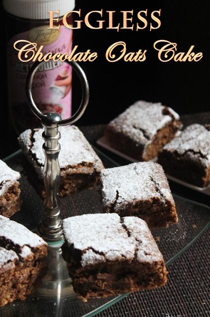 YUMMY TUMMY: Whole Wheat Oats & Chocolate Cake Recipe - Eggless Oats & Chocolate Cake Recipe