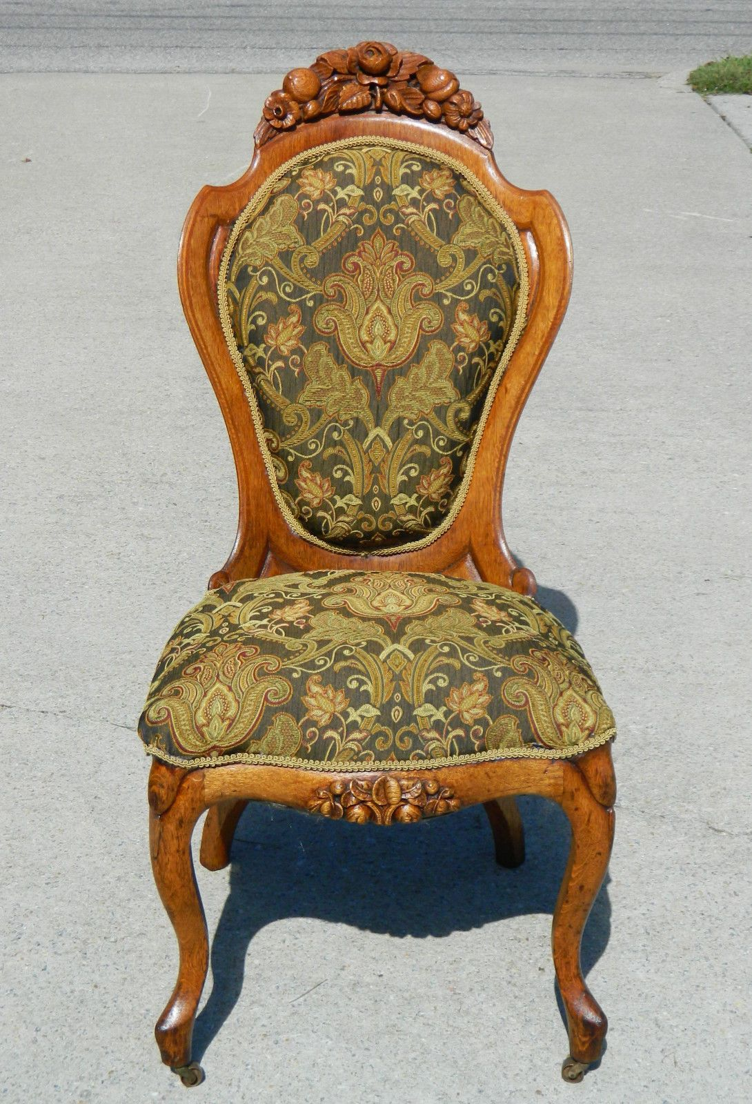 gentlemans chair chill out tiger oak belter laminated parlor chairs ladies ebay