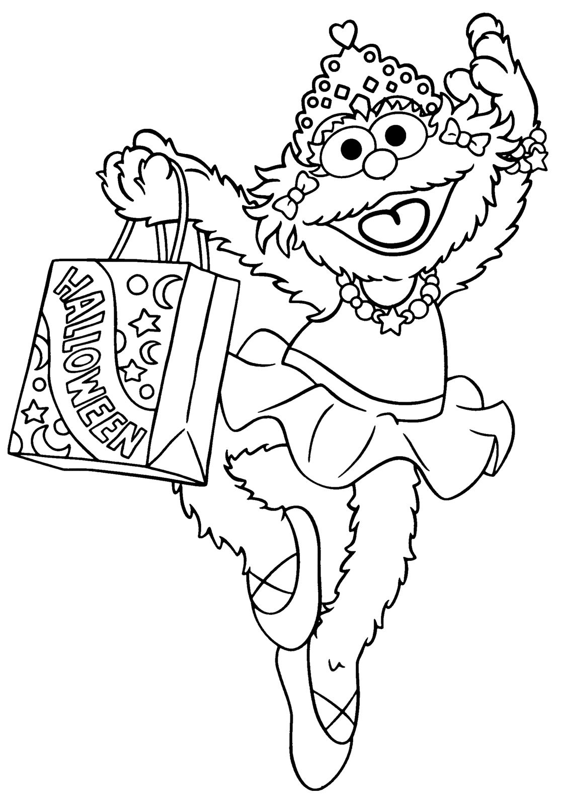 Free coloring pages elmo - Free Halloween Coloring Pages Printables