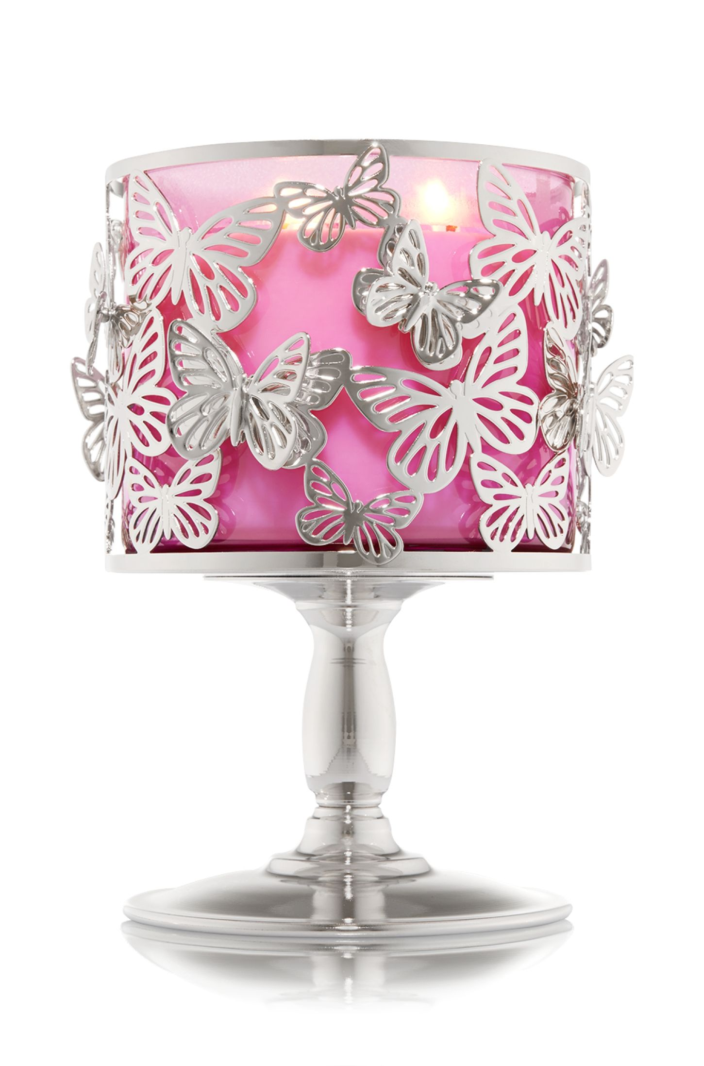 Bath /& Body Works 3 D Pink Butterfly 3 Wick Candle Magnet