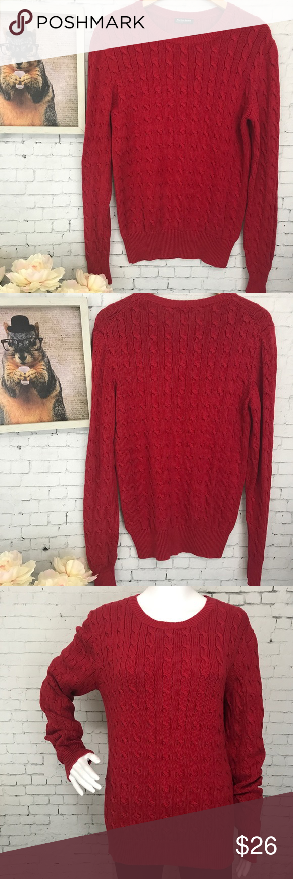 American Apparel Cotton Cable Knit Sweater Large | Cable knit ...