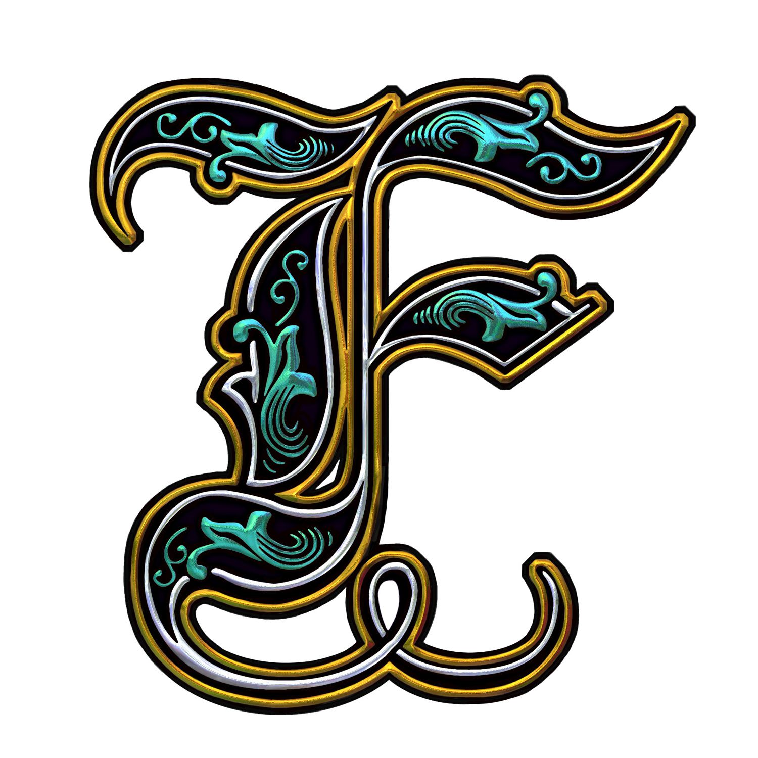 Fancy F F Is For Felicia Pinterest Lettering Illuminated