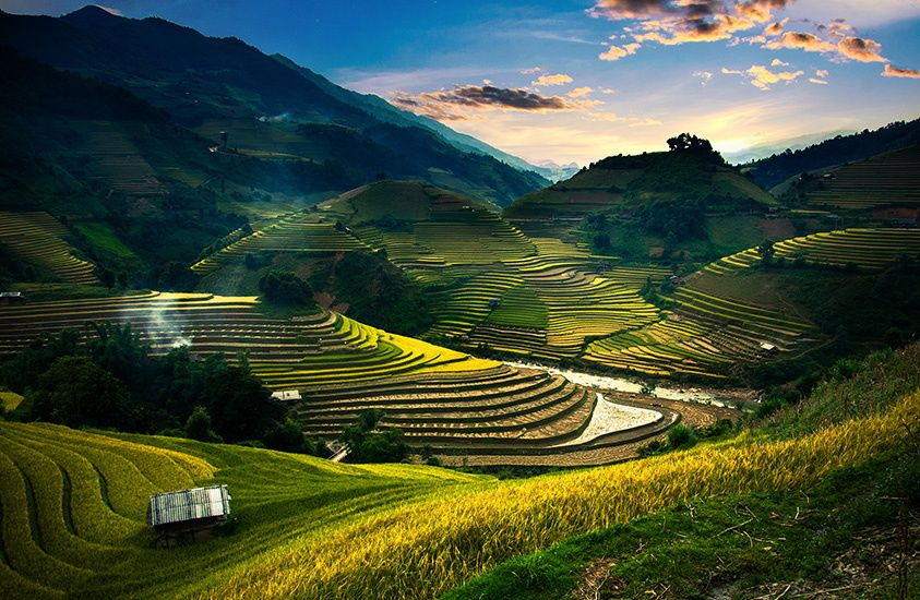 Terraces rice field in sunset at Mu Cang Chai, Vietnam by cristal tran on 500px