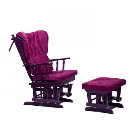 ملون نسيج منجد الخشب الكرسي الهزاز Outdoor Chairs Rocking Chair Furniture