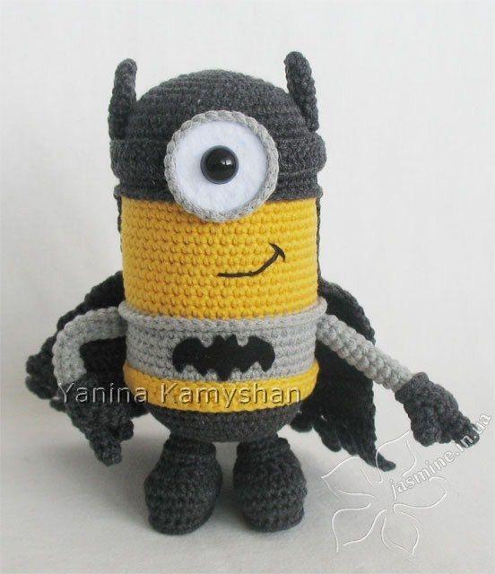 Crochet pattern - Flying Hero Batman minion amigurumi toy | Patrones ...