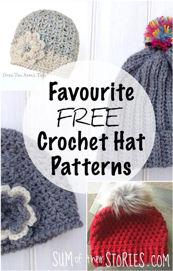 My Favourite Free Crochet Hat Patterns | Crocheting | Pinterest