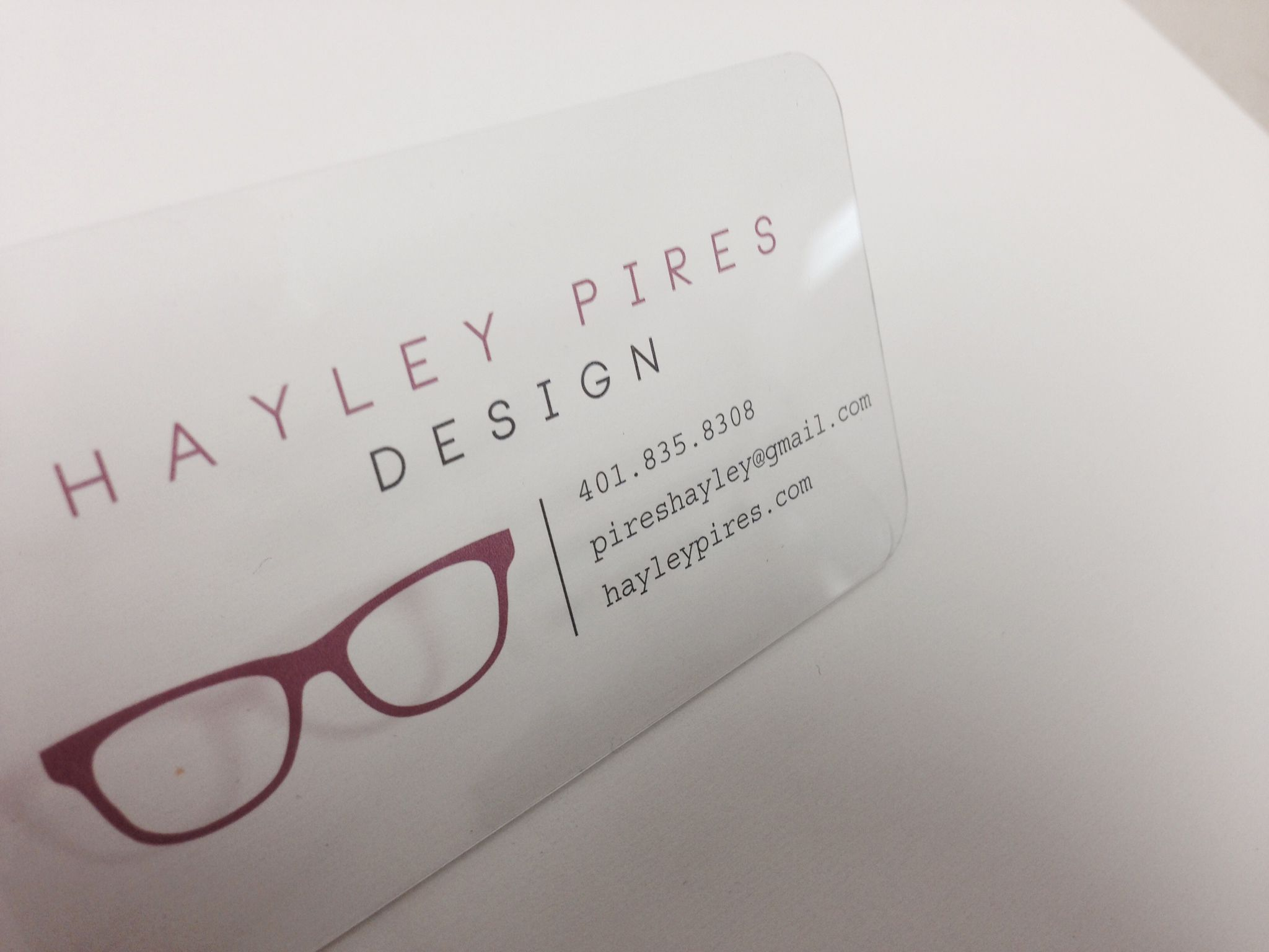 This is 20pt clear plastic printed business cards