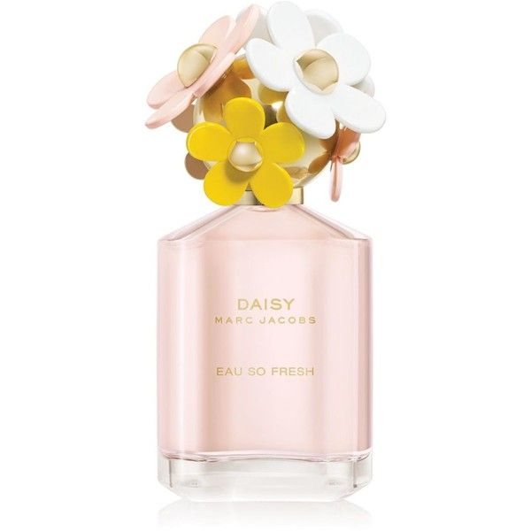 Marc Jacobs Daisy Eau So Fresh Eau de Toilette 4.2 oz ($98) ❤ liked on Polyvore featuring beauty products, fragrance, wood perfume, floral fragrances, edt perfume, eau de toilette vs perfume and perfume