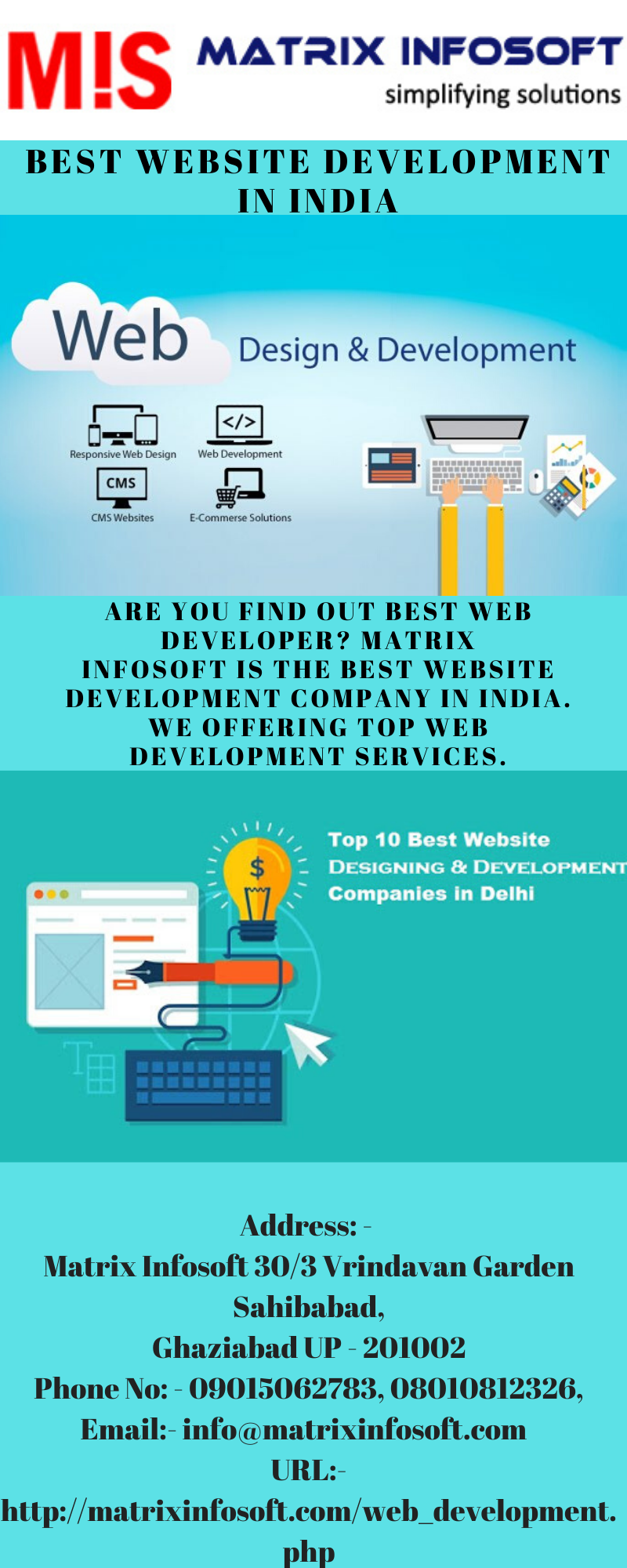 Best Website Development In India Are You Find Out Best Web Developer Matrix Infosoft Is The B In 2020 Website Development Web Development Website Development Company