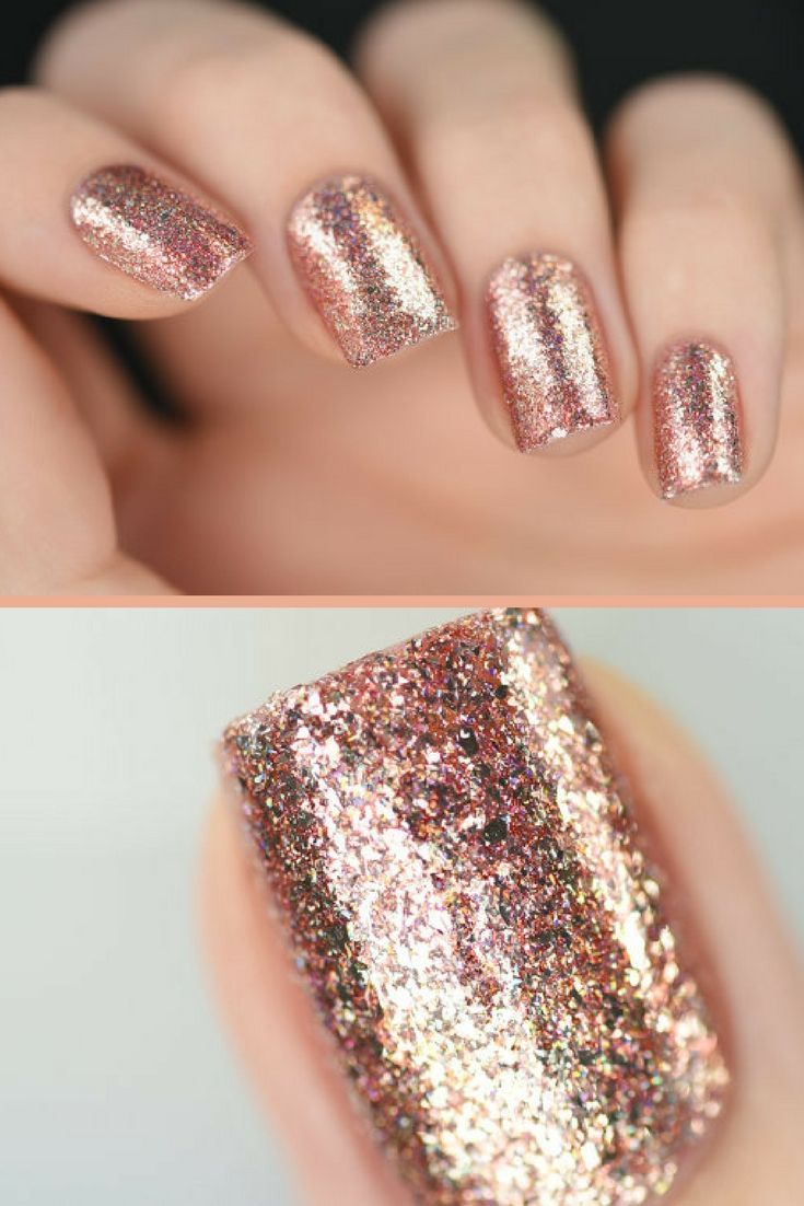 Juliette - Rose Gold Holographic Nail Polish..Juliette is part of ...