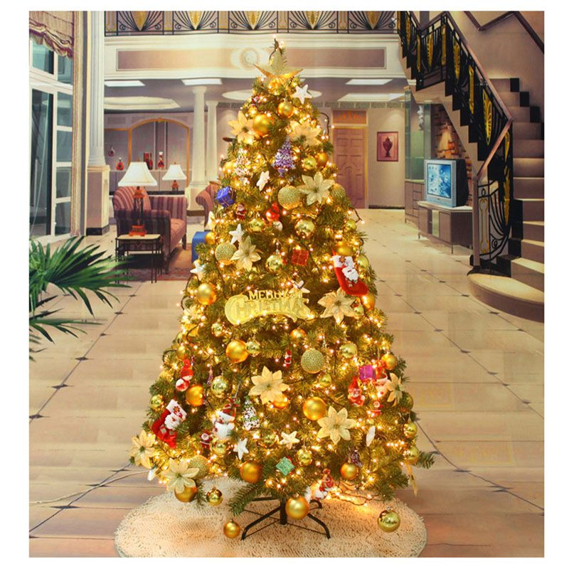 1 5m Large Christmas Tree With Tree Decoration Sets Simulation Thick Branches F Large Christmas Tree Christmas Tree Decorations Sets Christmas Gift Decorations