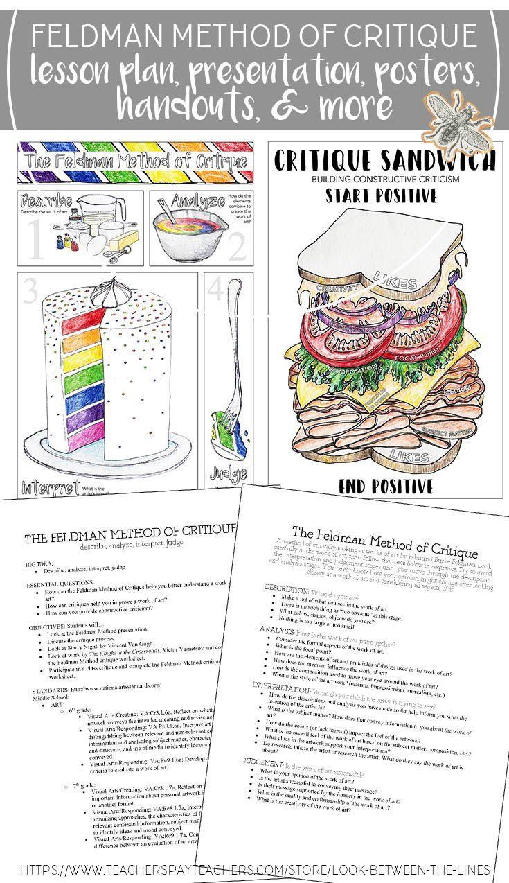 Visual Art, Feldman Method of Critique Lesson Plan Pack