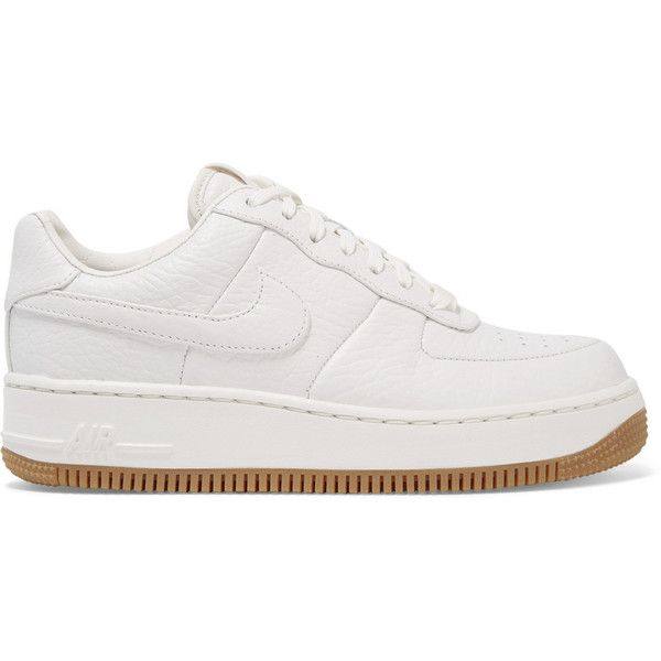 Nike Air Force 1 Upstep textured leather sneakers, Women's
