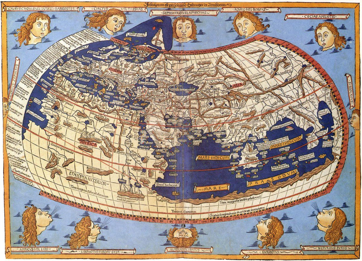 Claudius ptolemy world map 1482 maps as art pinterest canvases claudius ptolemy world map 1482 gumiabroncs Gallery