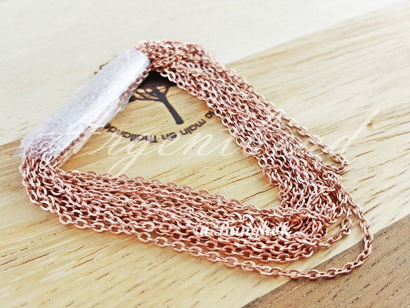 1 Metre of 2.2*1.6mm AG000077 Rose pink gold O Shape Chain AG000077 by Argentbead on Etsy