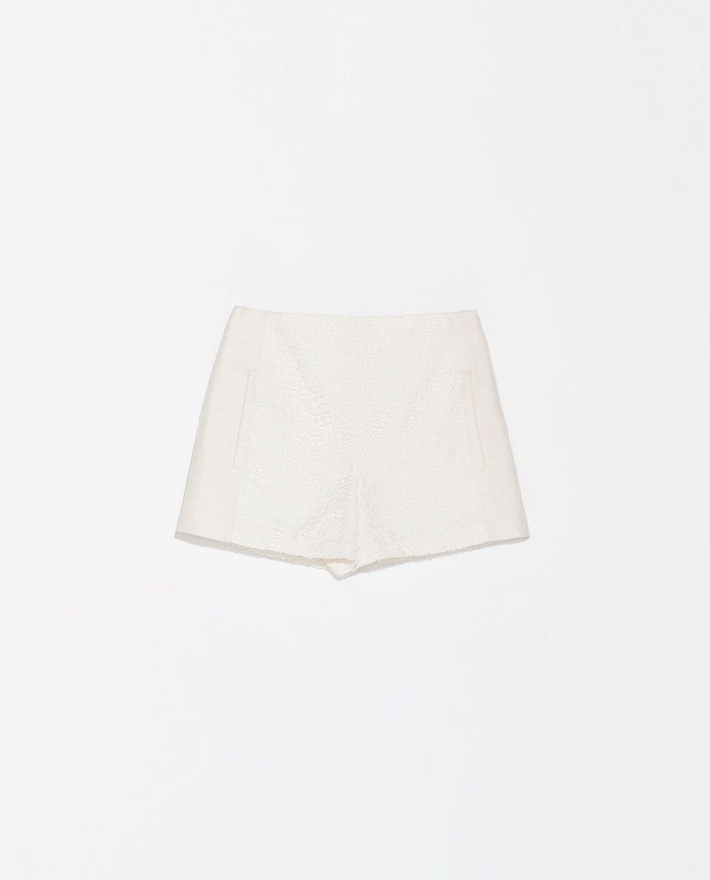 SHORTS ZARA White Shorts Doppio Tessuto