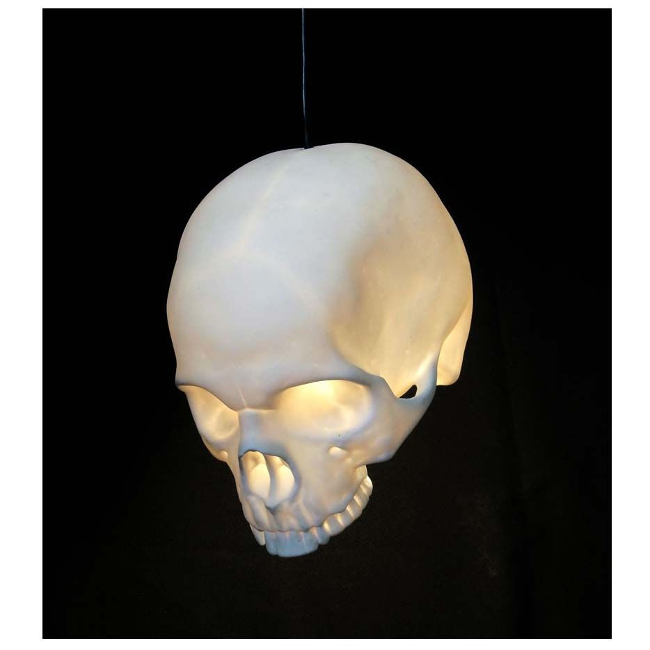 Cool ceiling lamp design with white skull lamp shade combine with cool ceiling lamp design with white skull lamp shade combine with black cable for dark room aloadofball Image collections