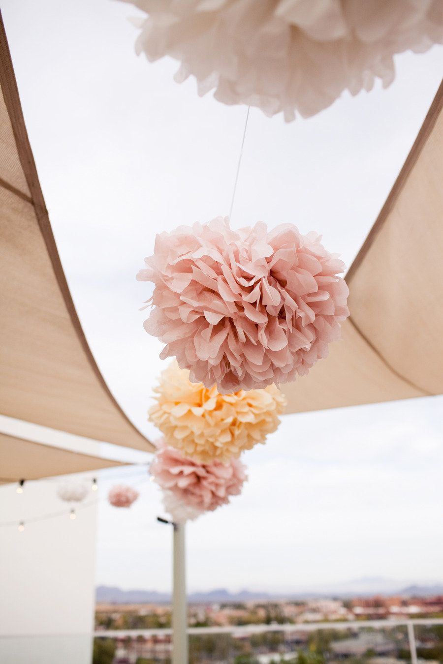 Paper wedding decoration ideas  Rooftop Phoenix Wedding from Melissa Jill Photography  KD Event
