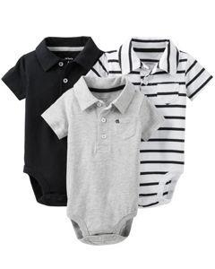 2ce93010 Carters Boys Baby 3-pk. Nautical Polo Bodysuit Set | Baby stuff ...