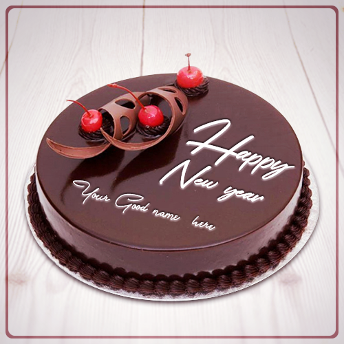 Finding To Happy New Year Cherry Cake With Name Write Name On Happy