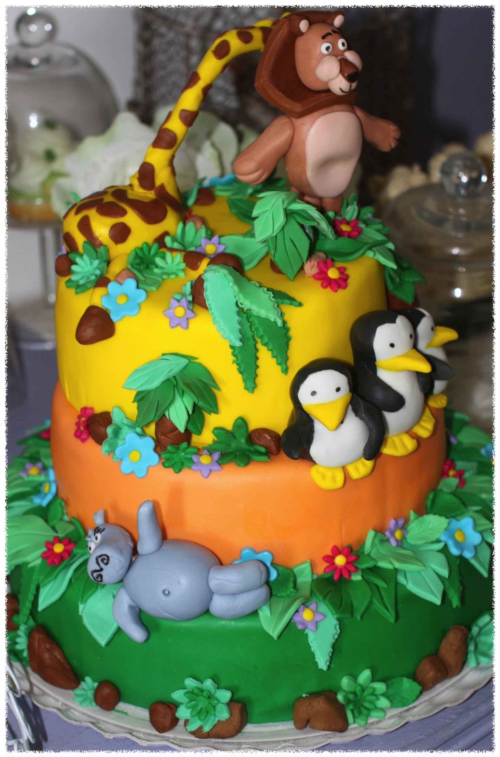 Amazing Madagascar Cake With Images Madagascar Cake Cake Cake Decorating Funny Birthday Cards Online Alyptdamsfinfo