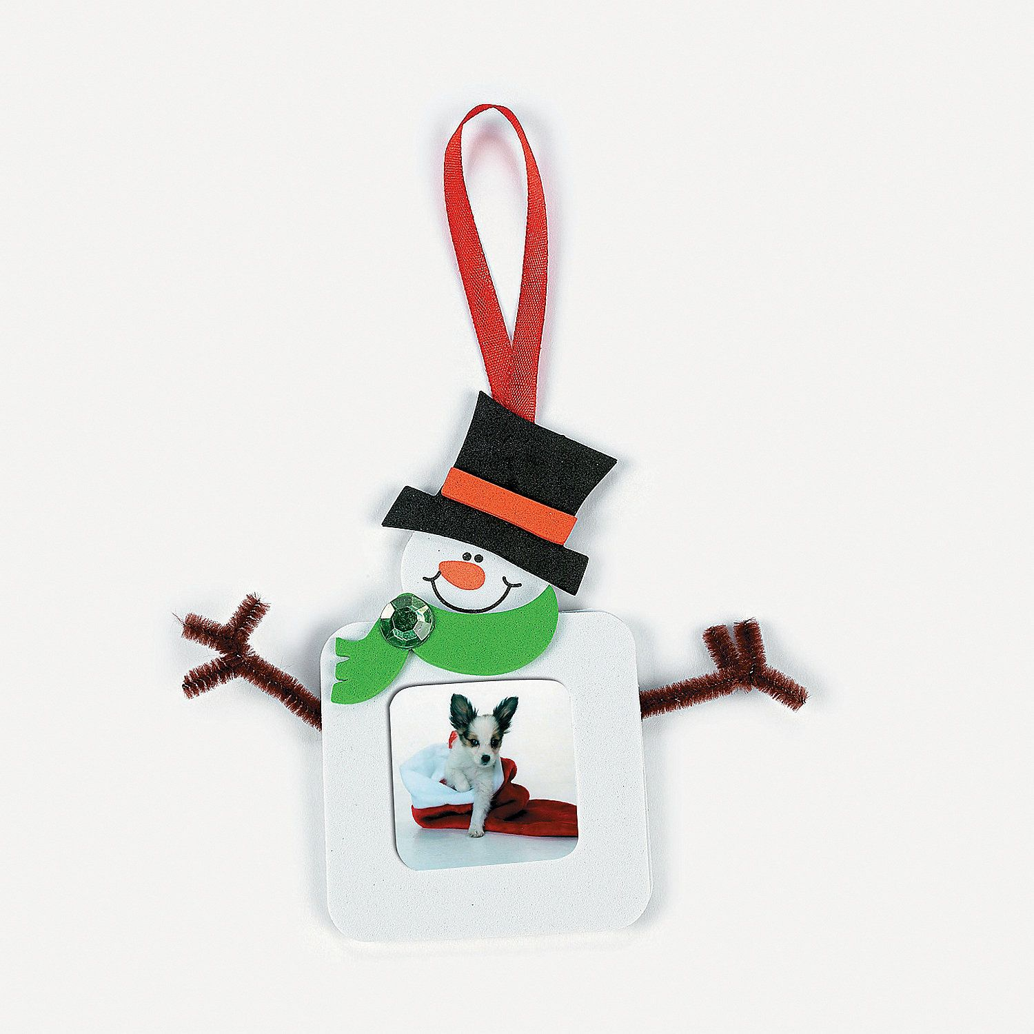 Square Snowman Picture Frame Christmas Ornament Craft Kit Discontinued Christmas Ornament Crafts Picture Frame Christmas Ornaments Ornament Crafts