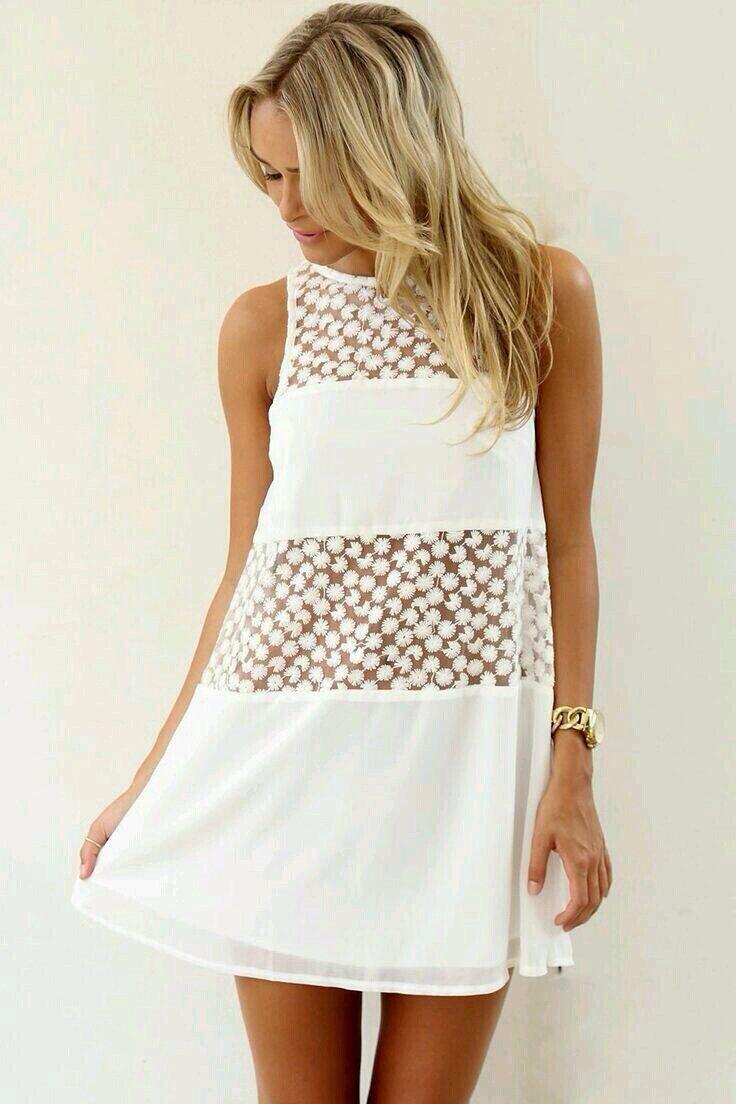 Flirty white dress fashion forward pinterest fashion forward