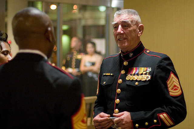 r. lee ermey  love watching him on the military channel.