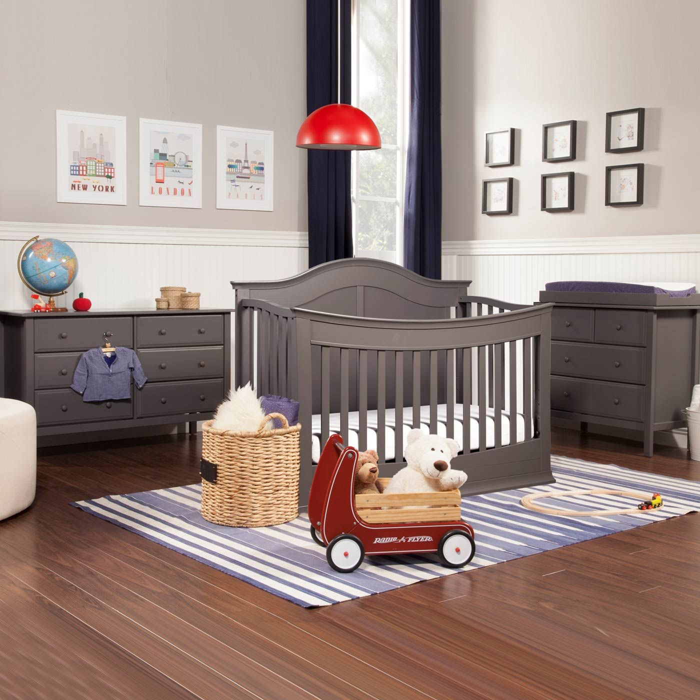 Davinci Meadow 3 Piece Nursery Set 4 In 1 Convertible Crib Autumn Changer Dresser And Jayden Double Slate